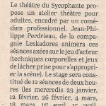 4) Article C.O. du 18 01 2020
