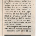 11) article C.O. du 0610 2015 001